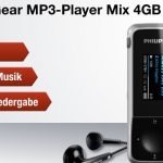 Philips GoGear MP3-Player Mix 4GB in Schwarz für 24,90€
