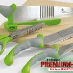 eBay WOW: ProV Air Wave Messerset (11 teilig) + Kräuterschere für 15,99€ inkl. Versand