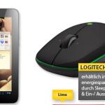 Lenovo IdeaTab (16GB, 3G + Wifi, 7″ Display) Android Tablet und Logitech M345 kabellose Maus im Angebot