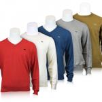 eBay: Lacoste Pullover mit V-Neck oder Rundhals (Wolle & Baumwolle) für 69,95€ inkl. Versand