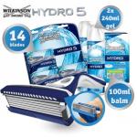 Wilkinson Sword Hydro 5 mit 14 Klingen, Aftershave Balsam und Rasiergel für 45,90€ inkl. Versand