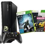 Xbox 360 mit 250GB Speicher, 2 Controller und 3 Spiele für nur 249€