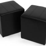 """eBay: 2 Sitzhocker """"Paris"""" aus Kunstleder für 36,66€ inkl. Versand"""