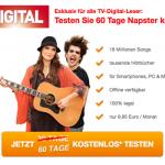 Gratis: Napster 2 Monate komplett kostenlos testen dank Gutscheincode