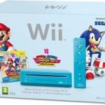 Nintendo Wii (Blau) + Mario & Sonic bei den olympischen Spielen Limited Edition für 99€