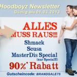 90% Gutscheincode für diverse Marken bei Hoodboyz