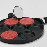 Tchibo: Aluguss-Burgerpfanne inkl. Press-Stempel aus Edelstahl für 14,95€ inkl. Versand