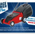 Gratis Elektrorasenmäher bei einem Einkauf ab 250€