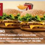 Burger King Druck-Gutscheine für März und April 2013