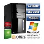 eBay: AMD A8 3870K Quad Core PC (8GB Ram, 750GB Festplatte, ATI Radeon 6550, Windows 7 64 Bit) für 279€inkl. Versand