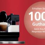Amazon: Nespresso Cashback Aktion (100€ oder 70€) auf auserwählte Modelle