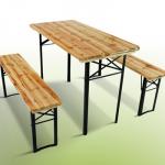 eBay: Bierzeltgarnitur für euren Garten (Tisch und Bänke) für 50,95€ inkl. Versand