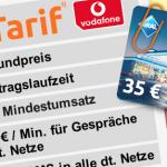 35€ Tankgutschein dank kostenlosem Vodafone Handyvertrag (nur 1 Monat Vertragslaufzeit)