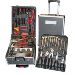 eBay: Werkzeugkoffer mit 186 Teile (Bits, Zangen, Steckschlüssel, Wasserwaage, Schraubendreher, Zubehör) für 59,99€ inkl. Versand