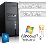 eBay: AMD AM3 Dual Core PC (3,4 GHz, 4GB Ram, Windows 7 64 Bit) für 219,90€ inkl. Versand