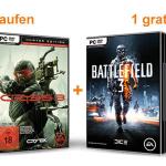 Amazon: 1 Spiel kaufen und 1 geschenkt bekommen (z.B. Crysis 3 kaufen und Battlefield 3 geschenkt bekommen)