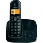 Philips CD1961 schnurloses analog Telefon (Anrufbeantworter, beleuchtetes Display, Schwarz) für 25€ inkl. Versand