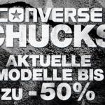 Bis zu 50% Rabatt auf aktuelle Converse Chucks Modelle