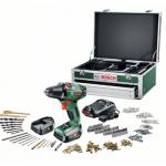Bosch PSR 14.4 Li Bohrschrauber, 2 Akkus, 241-tlg Zubehör-Set und Toolbox für 169,99€ inkl. Versand (statt 199,00€)
