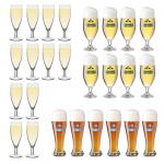 12x Sektglas Champagnerglas, 8x Biertulpen Bierglas oder 6x Weizenbierglas für jeweils 9,99€ inkl. Versand