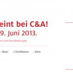 20% Rabatt auf das gesamte Sortiment bei C&A bis 9. Juni