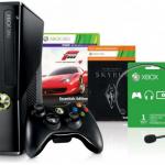 Xbox 360 Konsole mit 250GB Speicher und 2 Games (Forza 4 und Skyrim) für 121€ inkl. Versand