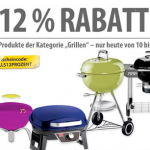 """12% Rabatt auf alle Artikel der Kategorie """"Grillen"""" bei MeinPaket"""