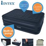 Intex Queen Downy Luftbett für 2 Personen mit eingebauter Elektro-Pumpe für 38,90€ inkl. Versand