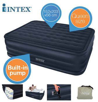 intex queen downy luftbett f r 2 personen mit eingebauter elektro pumpe f r 38 90 inkl versand. Black Bedroom Furniture Sets. Home Design Ideas