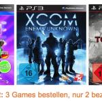 3 für 2: 3 Games bestellen, nur 2 bezahlen bei Amazon