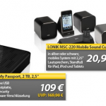 "OHA Tagesangebote: Western Digital ""My Passport"" externe USB 3.0 Festplatte & I.ONIK MSC-220 Sound Würfel"