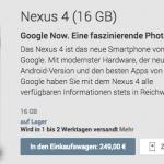 Nexus 4 Smartphone von Google zu besonders günstigen Preisen