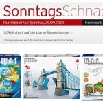 20% Rabatt auf alle Ravensburger Artikel bei Kartstadt