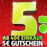5€ Cashback als Gutschein bei 40€ EInkaufswert bei Penny