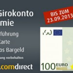 Comdirect Girokonto: 100€ Feierprämie bei Eröffnung eines Girokontos
