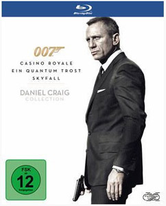 Daniel Craig James Bond 007 Bluray Box mit 3 Filmen