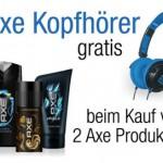 Gratis Kopfhörer beim Kauf von 2 Axe Produkten bei Amazon