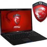 MSI GE60-i760M245 – 15,6 Zoll Gaming-Notebook mit i7-3630QM, 4GB Ram, 500GB HDD, NVIDIA GeForce GTX 660M für 699€ inkl. Versand