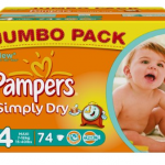 Pampers Simply Dry 2x Jumbo Pack (148 Stück) Windeln für nur 17,40€ inkl. Versand