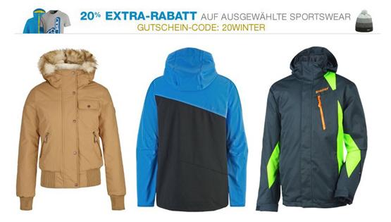 20 Prozent Extra-Rabatt auf ausgewählte Sportswear bei Amazon