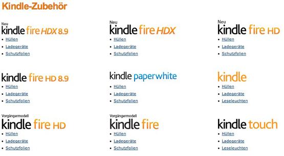 20 Prozent auf ausgewähltes Zubehör für Amazons Kindle
