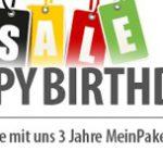 3 Jahre MeinPaket – jede Menge gute Angebote zum 3. Geburtstag