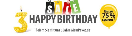 3 Jahre MeinPaket - jede Menge guter Angebote zum 3. Geburtstag
