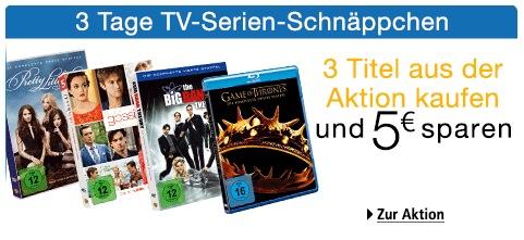 3 Tage TV-Serien-Schnäppchen - 3 Titel kaufen und 5€ sparen