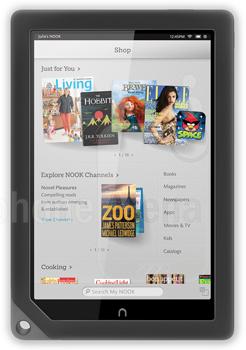 Barnes & Noble NOOK HD+ Tablet mit 16GB Speicher und 9 Zoll IPS Display