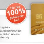 Beitragsfreie und dauerhaft kostenlose Mastercard Gold Kreditkarte + 40€ Amazon-Gutschein