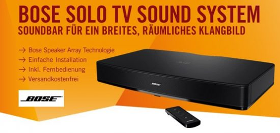 bose solo tv soundsystem f r 279 inkl versand. Black Bedroom Furniture Sets. Home Design Ideas