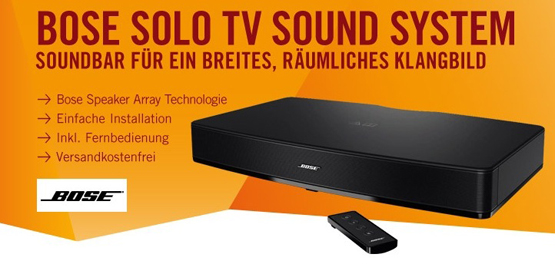 bose solo tv soundsystem f r 279 inkl versand sparen im november 2018. Black Bedroom Furniture Sets. Home Design Ideas