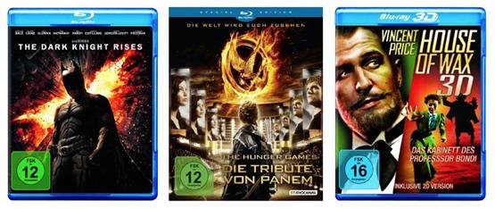 DVD & Blu-ray Angebote der KW43 - The Dark Knight Rises, Die Tribute von Panem und mehr
