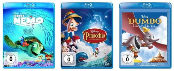 Disney Klassiker auf Blu-ray für unter 10€ je Film